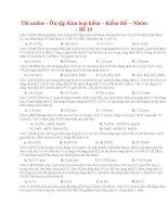 36 thi online   ôn tập kim loại kiềm – kiềm thổ – nhôm   đề 10