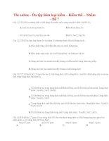 33 thi online   ôn tập kim loại kiềm – kiềm thổ – nhôm   đề 7