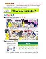 Giải bài tập SGK Tiếng Anh lớp 4 (mới) Unit 3: Lesson 1 trang 18