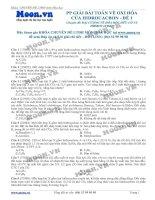 18 LTDH thionline PP giai bai toan ve oxi hoa cua hidrocacbon   de 1