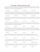22 thi online   phương pháp quy đổi