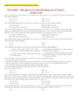 Bài tập và Lý thuyết nâng cao về Amin – Amino axit
