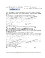 Đề thi thử THPT Quốc gia môn Sinh học trường Chuyên đh khoa học huế