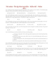 29 thi online   ôn tập kim loại kiềm – kiềm thổ – nhôm   đề 3