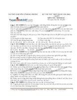 Đề thi thử THPT Quốc gia môn Sinh học trường Chuyên lê hồng phong   lần 1