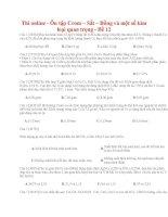 27 thi online   ôn tập crom – sắt – đồng và một số kim loại quan trọng   đề 12