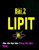 Bài giảng LIPIT