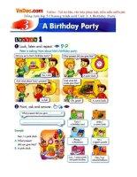 Tiếng Anh lớp 5 Chương trình mới Unit 3: A Birthday Party