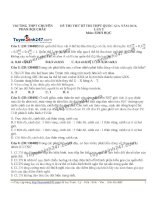 đề thi thử THPT môn sinh học trường chuyên phan bội châu, lần 2