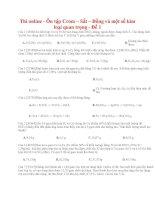 16 thi online   ôn tập crom – sắt – đồng và một số kim loại quan trọng   đề 1