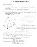 Các dạng bài tập về vector trong không gian