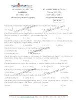 Đề thi thử THPT Quốc gia môn Vật lý Sở GDĐT lâm đồng