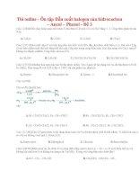 Thi online   ôn tập dẫn xuất halogen của hiđrocacbon – ancol – phenol   đề 3