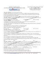 Đề thi thử THPT Quốc gia môn Sinh học trường Ngô sỹ liên   bắc giang   lần 3