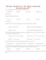 22 thi online   ôn tập crom – sắt – đồng và một số kim loại quan trọng   đề 7