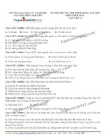 Đề thi thử THPT Quốc gia môn Sinh học trường Chuyên đh sư phạm hà nội   lần 5