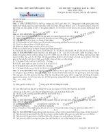 Đề thi thử THPT Quốc gia môn Sinh học trường Chuyên quốc học huế lần 2