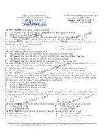 Đề thi thử THPT Quốc gia môn Sinh học trường Nguyễn thái học   vĩnh phúc   lần 1