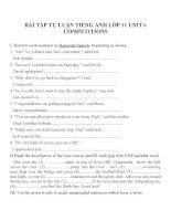 Bài tập môn tiếng anh lớp 11 (5)