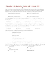 23 thi online   ôn tập amin – amino axit – protein   đề 3