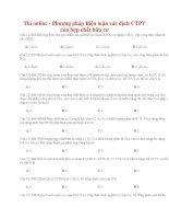 30 thi online   phương pháp biện luận xác định CTPT của hợp chất hữu cơ