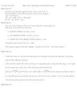 Đáp án bộ đề 7-8 điểm môn hóa