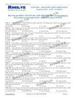 LTDH thi online can ban   bai toan thuy phan este