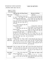 Đáp án đề luyện thi HSG 12   đề 3   lịch sử 12   lê dũng