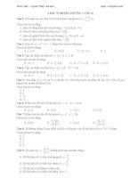 Bài tập trắc nghiệm chương 1 môn toán lớp 12