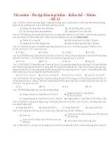 39 thi online   ôn tập kim loại kiềm – kiềm thổ – nhôm   đề 13