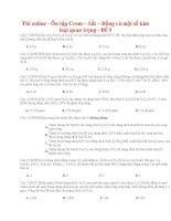 24 thi online   ôn tập crom – sắt – đồng và một số kim loại quan trọng   đề 9