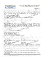 Đề thi thử THPT Quốc gia môn Sinh học trường Chuyên đh vinh   lần 2
