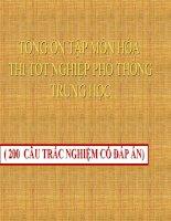 Tong on tap mon HOA thi tot nghiep(200cau trac nghiem co dap an)
