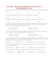 37 thi online   phương pháp biện luận xác định CTCT của hợp chất hữu cơ p1