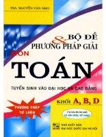 Bo de   phuong phap giai mon toan khoi ABD (NXB dai hoc quoc gia 2011)   nguyen van nho, 232 trang (NXPowerLite copy)