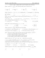 Thi THPT Quốc Gia 2017 Trắc nghiệm toán chương 1