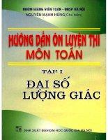 Huong dan on luyen thi mon toan tap 1 dai so luong giac (NXB dai hoc quoc gia 2003)   nguyen manh hung, 397 trang