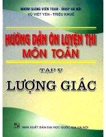 Huong dan on luyen thi mon toan tap 5 luong giac (NXB dai hoc quoc gia 2003)   vu viet yen, 321 trang