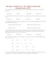 29 thi online   ôn tập crom – sắt – đồng và một số kim loại quan trọng   đề 14