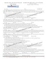 Đề thi thử THPT Quốc gia môn Sinh học trường Chuyên nguyễn huệ   lần 2