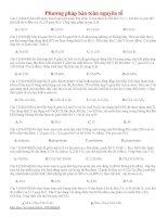 03 thi online   phương pháp bảo toàn nguyên tố