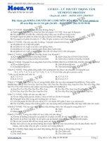 13 v1 thi online LTTrongTamVePePTitProtein