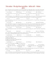 35 thi online   ôn tập kim loại kiềm – kiềm thổ – nhôm   đề 9