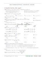 trắc nghiệm toán ôn thi thpt quốc gia năm 2017-chuyên đề hàm số mũ, logarit (có đáp án)