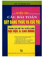 Tuyen chon cac bai toan bat dang thuc va cuc tri (NXB dai hoc quoc gia 2008)   vo giang giai, 207 trang (NXPowerLite copy)