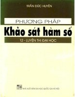 Phuong phap khao sat ham so 12 LTDH (NXB dai hoc quoc gia 2003)   tran duc huyen, 373 trang