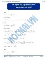 Bai 9 HDGBTTL cac phuong phap tinh tich phan phan 3 hocmai vn
