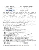 Đề thi thử THPT Quốc gia môn Sinh học trườn gQuỳ hợp   nghệ an   lần 2