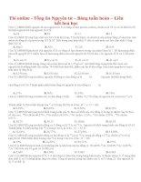 Thi online   tổng ôn nguyên tử – bảng tuần hoàn – liên kết hoá học