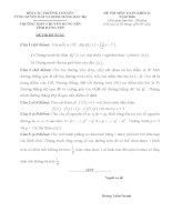 Đề thi duyên hải đồng bằng bắc bộ môn toán lớp 11 năm 2016   đề đề xuất trường THPT chuyên hưng yên